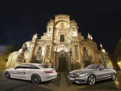 Dimovil acompaña a 7 Televisión de Murcia con los Mercedes C Cabrio y E Coupe