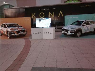 Arte en familia para presentar el nuevo Kona